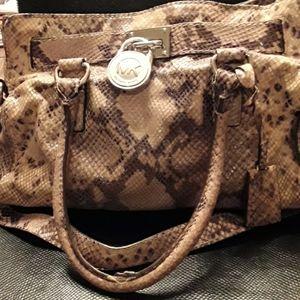 Michael Kors gray snakeskin bag